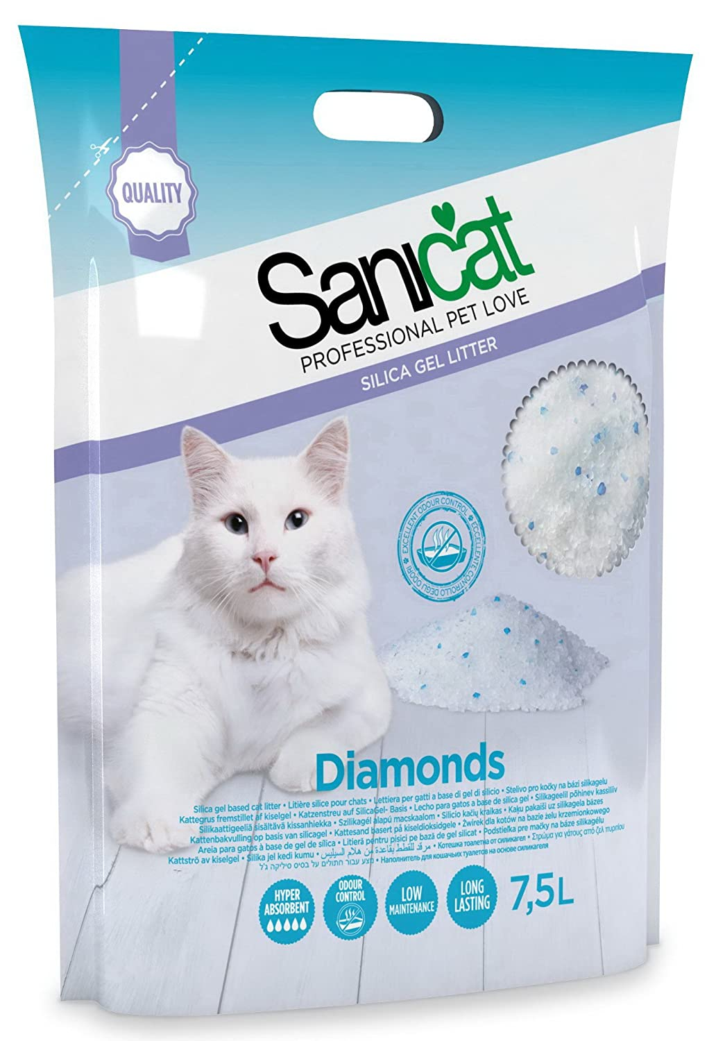 TOLSA D-10255 Sanicat Diamond Sílice Gel - 7.5 L: Amazon.es: Productos para mascotas