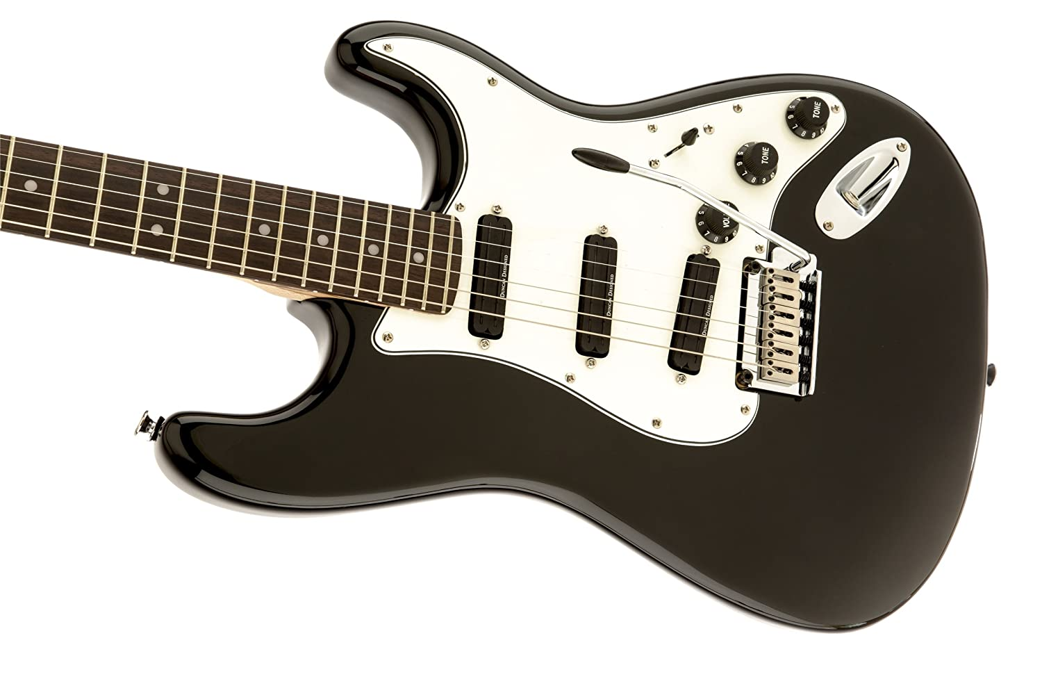 Squier Deluxe Hot Rails Stratocaster Black Musical Fender Mexican Strat Wiring Diagram Instruments