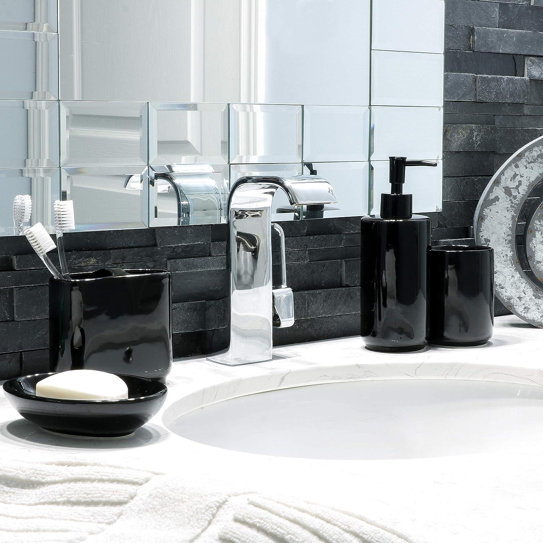 4pc Apple Design Bathroom Accessory Set