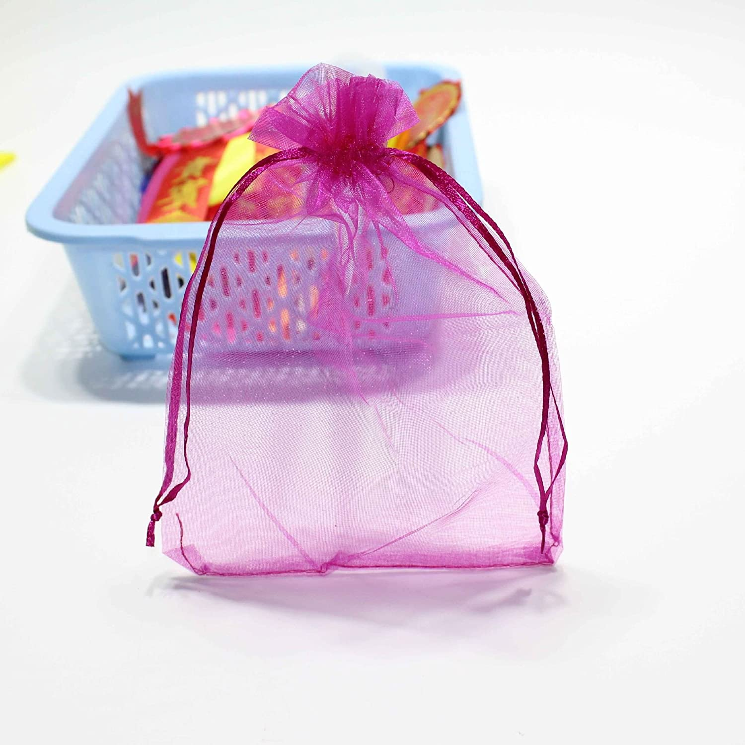 Amazon.com: Fengirl Drawstring Organza Jewelry Pouches Wedding Party ...
