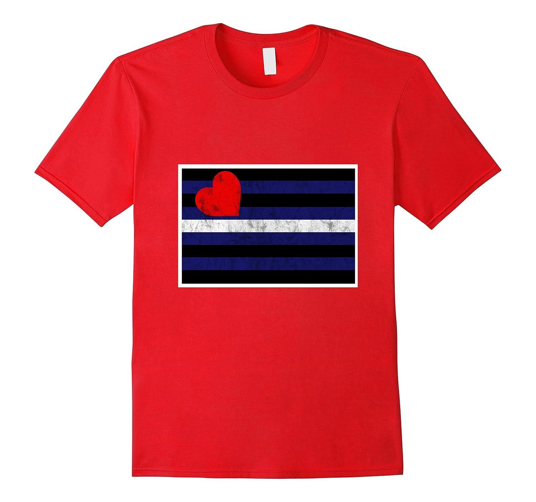 Leather Pride Flag Leather BDSM LGBT Kink T-Shirt-TH