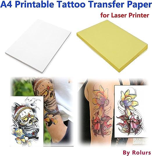Amazon.com: 10 hojas Laser bricolaje A4 Papel de ...