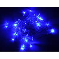 Amazon Price History:Karlling Battery Operated Blue 40 LED Fairy Light String Wedding Party Xmas Christmas Decorations(Blue)