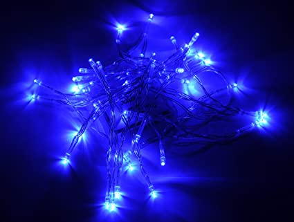 karlling battery operated blue 40 led fairy light string wedding party xmas christmas decorationsblue
