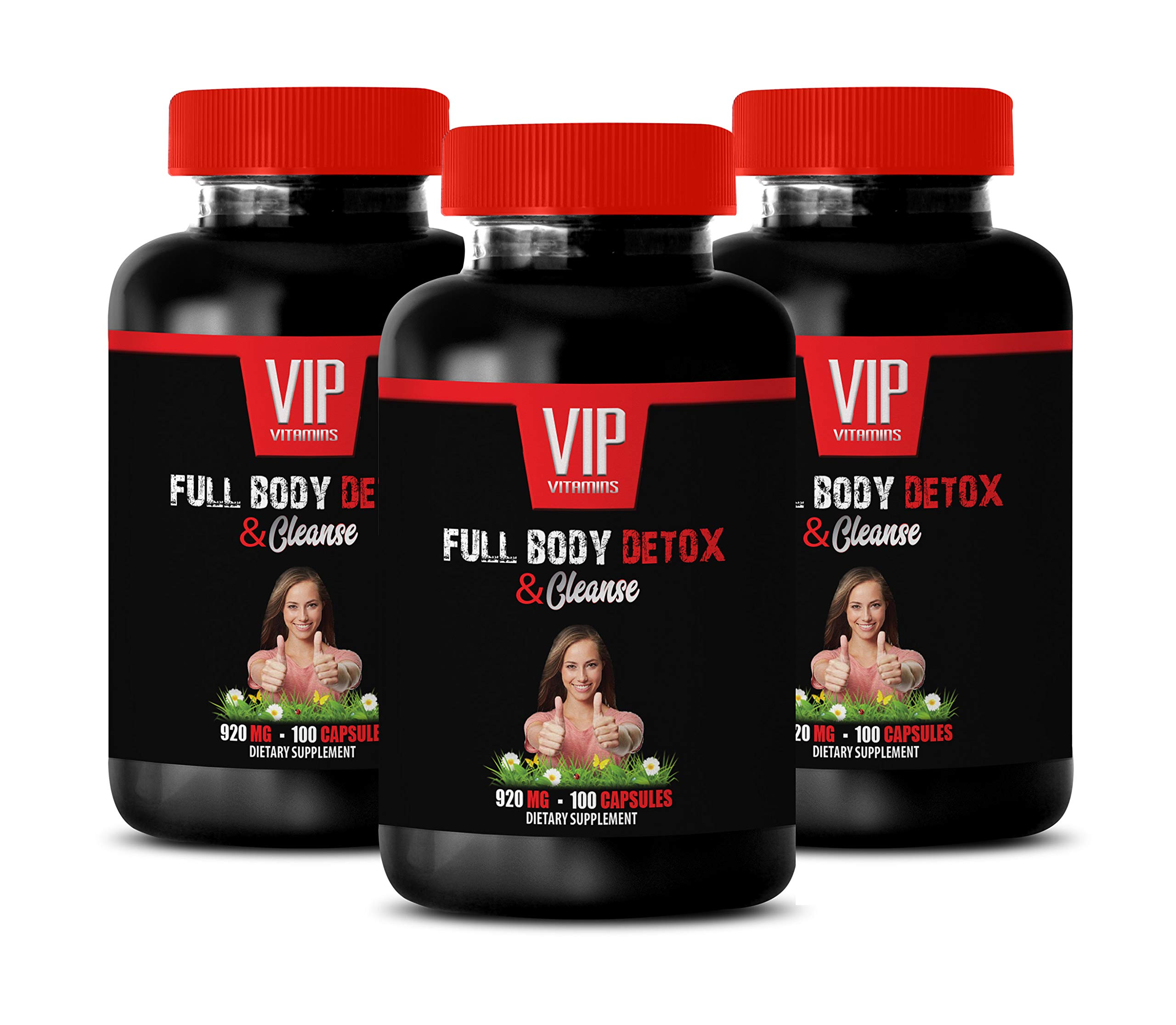 Wellness Supplements for Women - Full Body Detox and Cleanse - Burdock Root Milk Thistle - 3 Bottles 300 Capsules by VIP VITAMINS (Image #1)