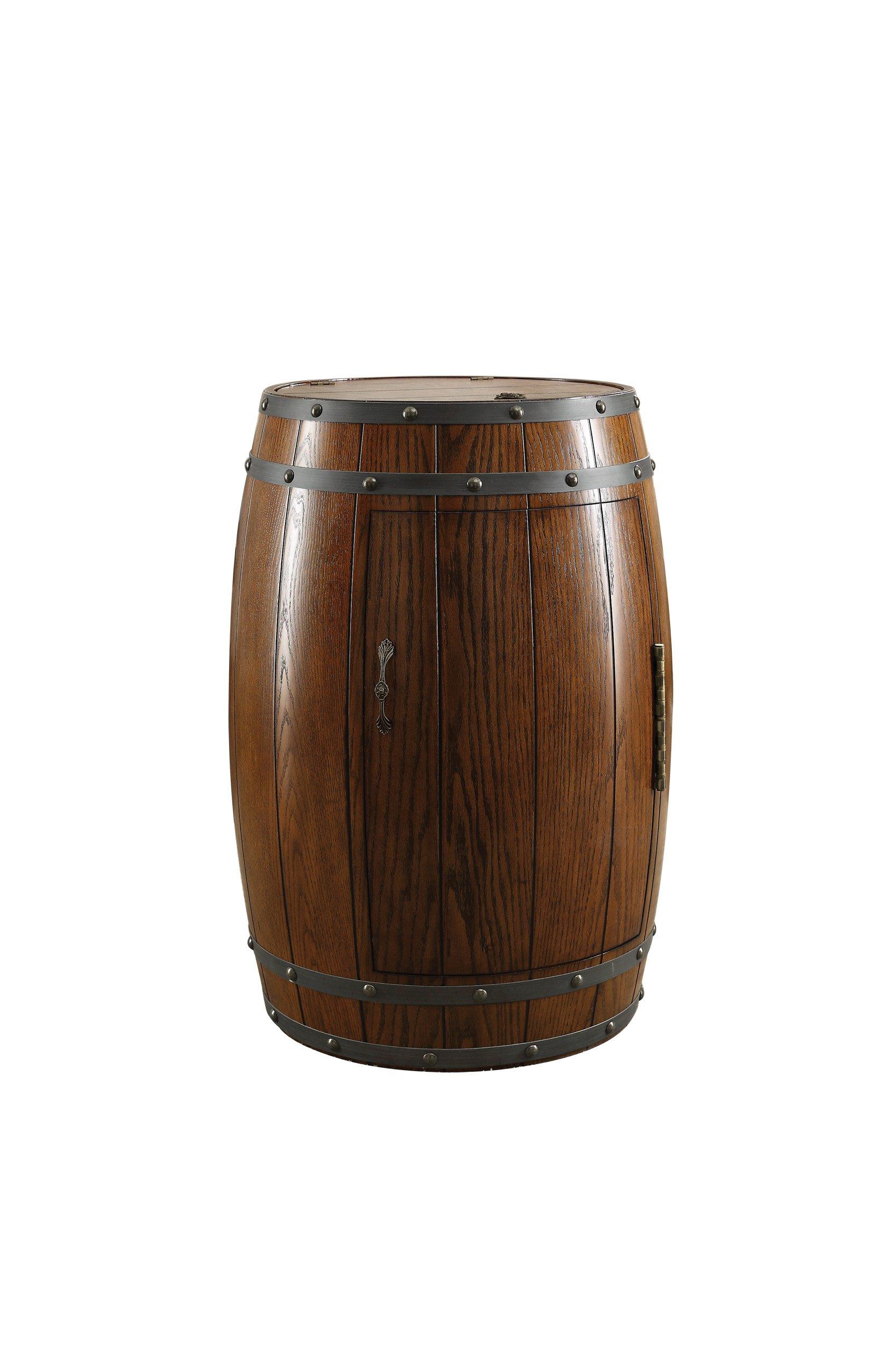 Homelegance Cabernet Wine Barrel Refrigerator, Oak by Homelegance