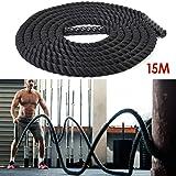 Amzdeal Corda da allenamento fisico /Fune da allenamento/corda forza delle braccia /corda rampicante 38MMX9M un strumento istruzione privata