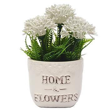 VGIA Artificial Plants For Home Decor Fake Dandelion Tabletop Decoration  (WHITE)