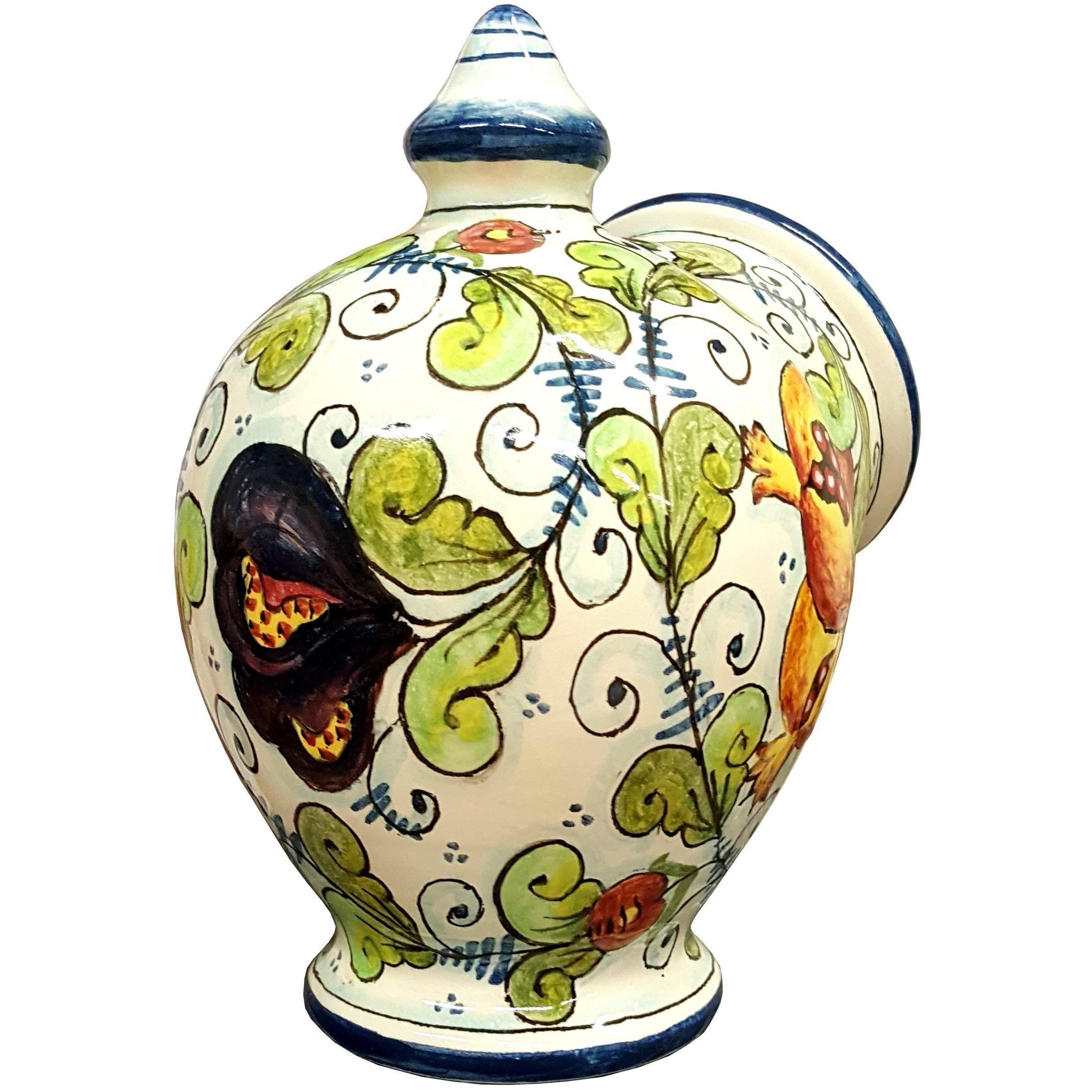 CERAMICHE D'ARTE PARRINI- Italian Ceramic Jar Salt Holder Sponge Hand Painted Decorated Fruit Made in ITALY Tuscan Art Pottery by CERAMICHE D'ARTE PARRINI since 1979 (Image #3)
