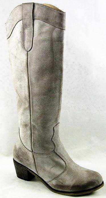 Andrea Conti Invierno Zapatos Botas Botines piel gris 2981 - 86, color gris, talla 37: Amazon.es: Zapatos y complementos