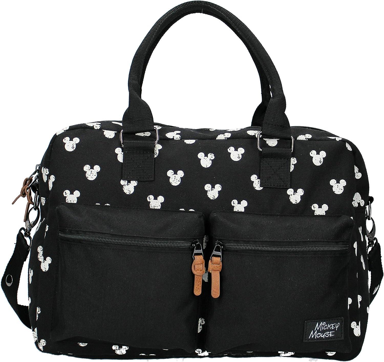 Disney Fashion Sac /à Langer avec Mickey Mouse avec Tapis /à Langer Noir 16 L