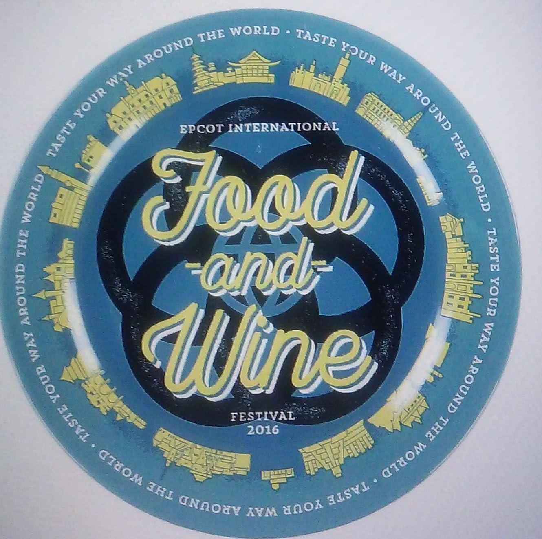 Disney World Epcot Food & Wine Festival 2016 Dessert Plate