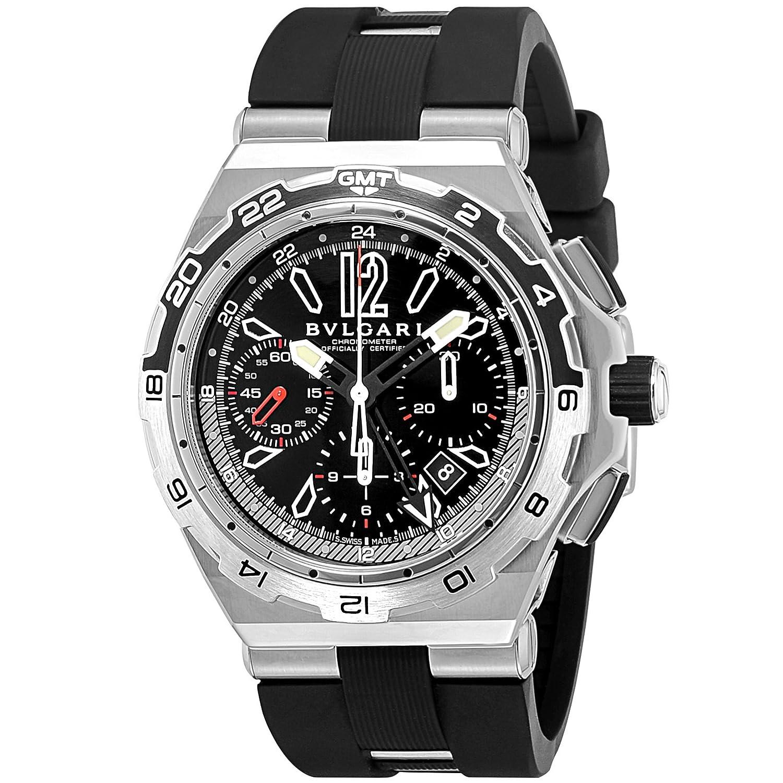 [ブルガリ]BVLGARI 腕時計 ディアゴノ ブラック文字盤 DP45BSTVDCH/GMT メンズ 【並行輸入品】 B01LYLOE83