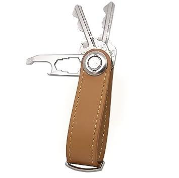 Compacto Llavero herramienta abrebotellas/llavero de piel ...