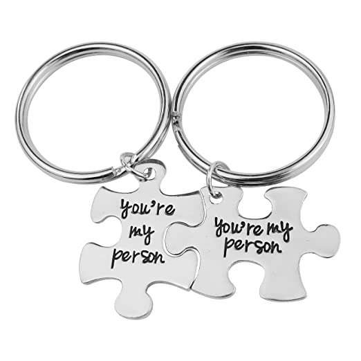Keychain-You are my person key chains Nice Key chain Set Fanshion Jewelry  By Burning Love