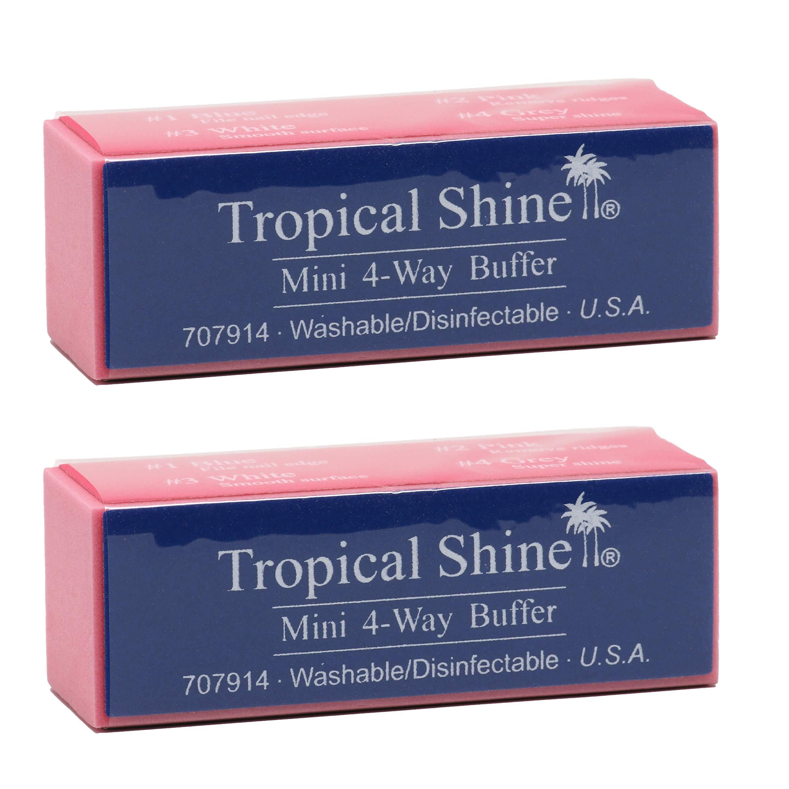 Tropical Shine Mini 4-Way Nail Buffer Block 2 piece by Tropical Shine