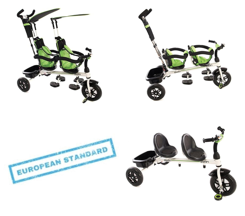 Kinder Kind Trike Dreirad 3Rad 3in 1Fahrrad mit Griff Baby Infant Twin Sitze Kikka ride