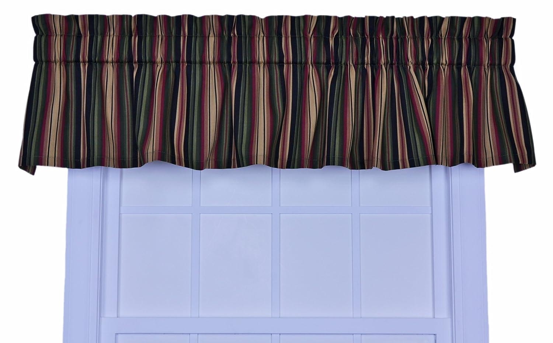 exceptional Ellis Valance Part - 13: Amazon.com: Ellis Curtain Montego Stripe Bradford Valance Window Curtain,  Green: Home u0026 Kitchen
