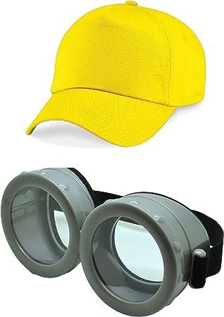 ASVP Shop Gafas minions de película con gorro para disfraces