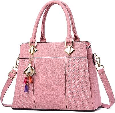 Amazon.com: Charmore Women's Handbags Top Handle Shoulder Bags Totes (Light  Pink): Shoes