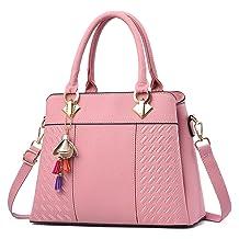 Charmore Women's Handbags Top Handle Shoulder Bags Totes (Light Pink)