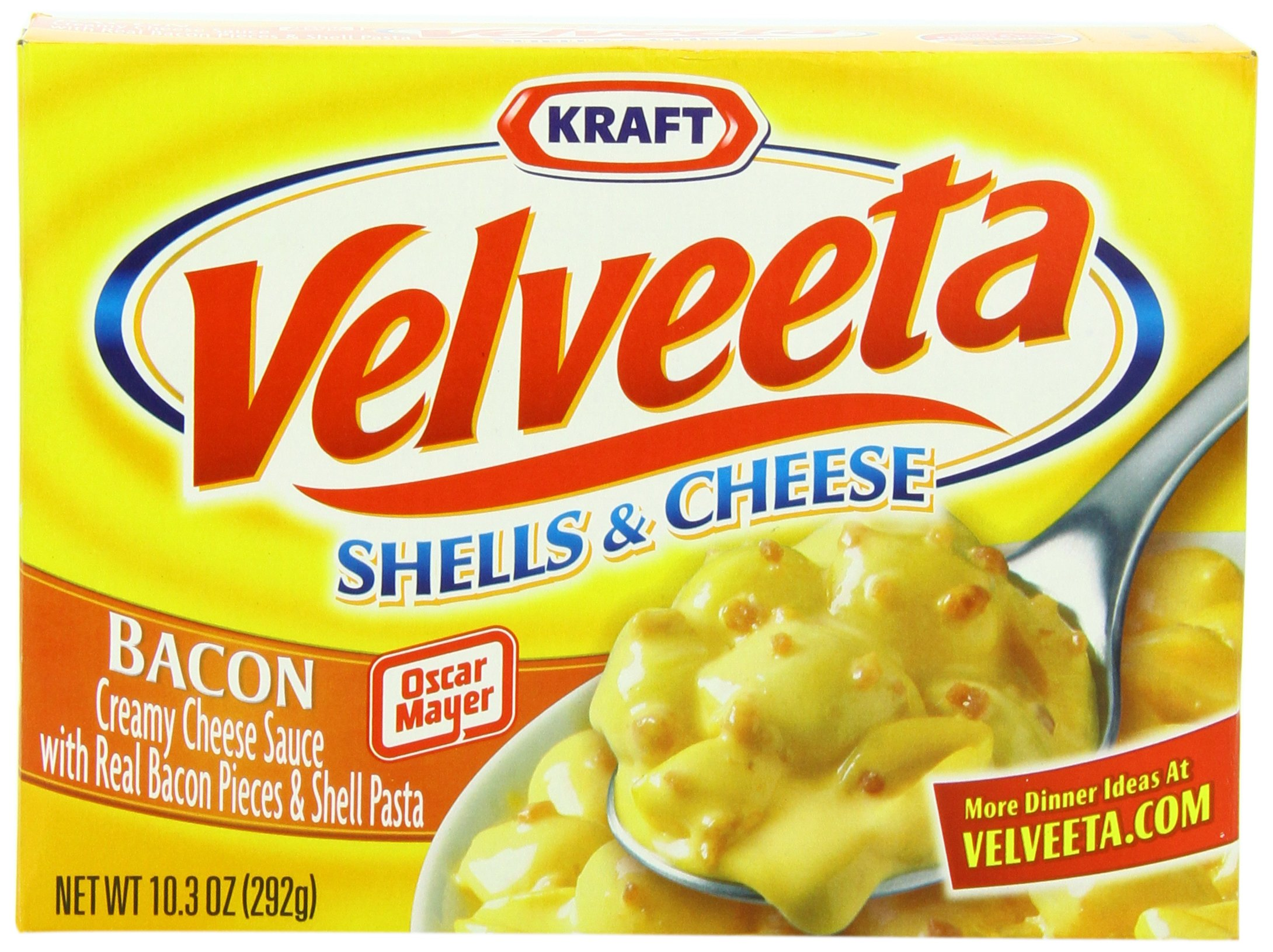 Velveeta Shells And Cheese With Bacon, 10.3-Ounce Units (Pack of 12)