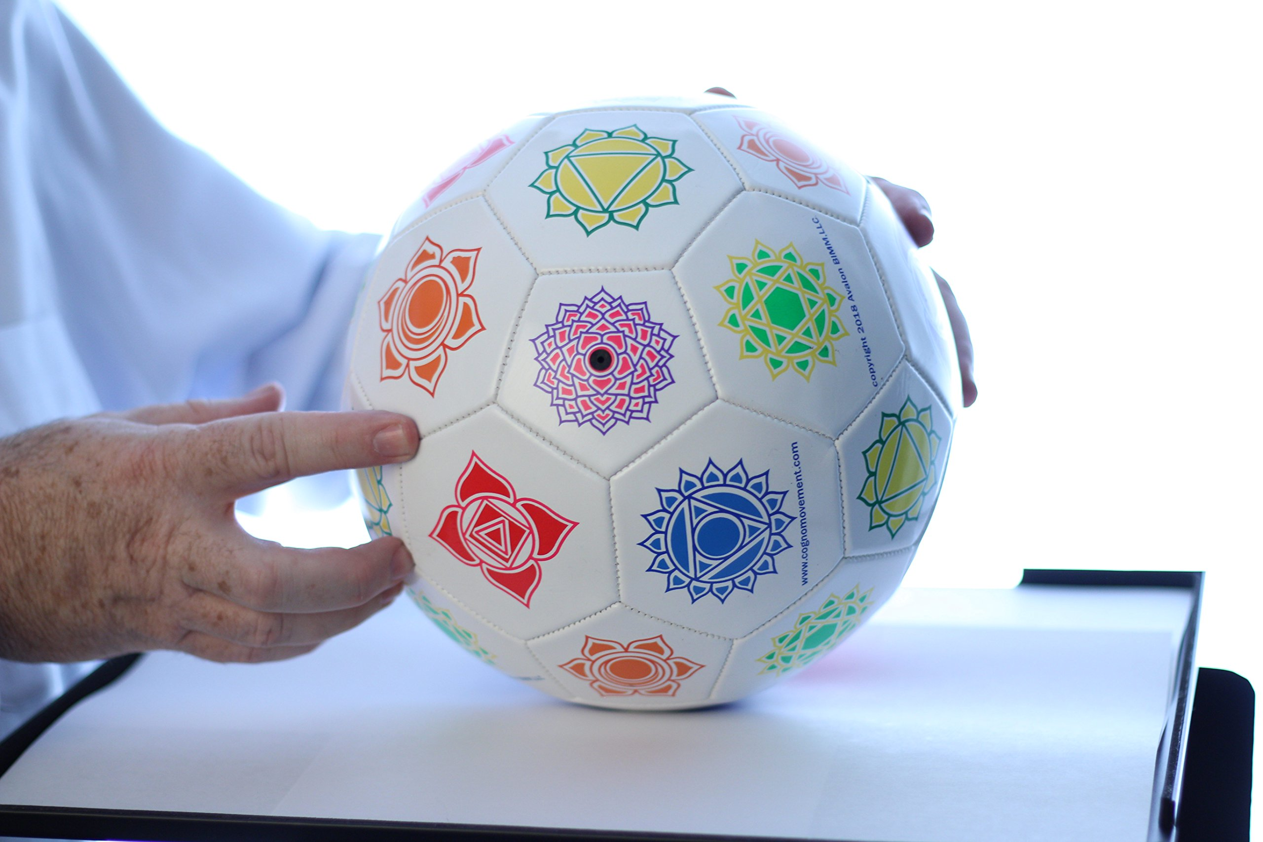 Cognomovement Soccer Ball Style + 1-Year Subscription | See Video Below | Physical & Mental Exercise Ball | Promotes Healthy Eating - Managing Stress Caused Emotional Eating | Boost Mental Acuity by Cognomovement (Image #2)