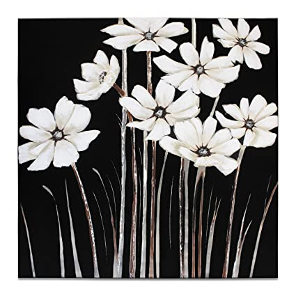 Amazon iarts wall arts hand painted large canvas for remodeling iarts wall arts hand painted large canvas for remodeling home living room decal white flowers mightylinksfo