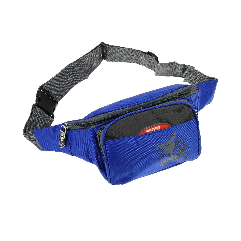 fakeface多機能耐久性軽量Chest Sling Shoulderバックパックバッグアウトドアスポーツ旅行サイクリング自転車用ハイキング登山ワークアウトFanny Chest Packクロスボディバッグ B01HD1QMAK Blue/2