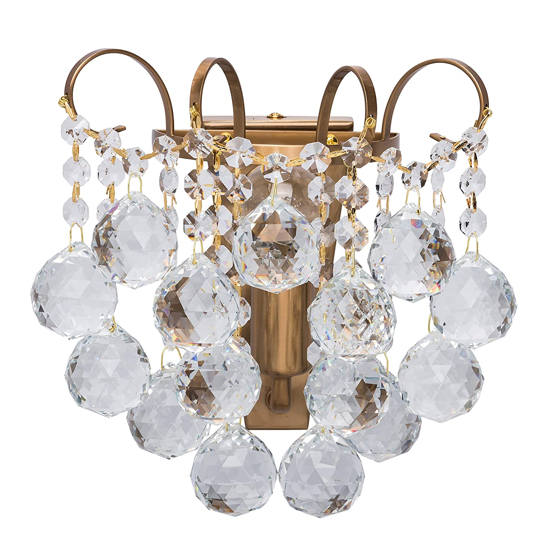 MW-Light 232028201 Kristall Wandleuchte Klassisch Gold Wohnzimmer Schlafzimmer