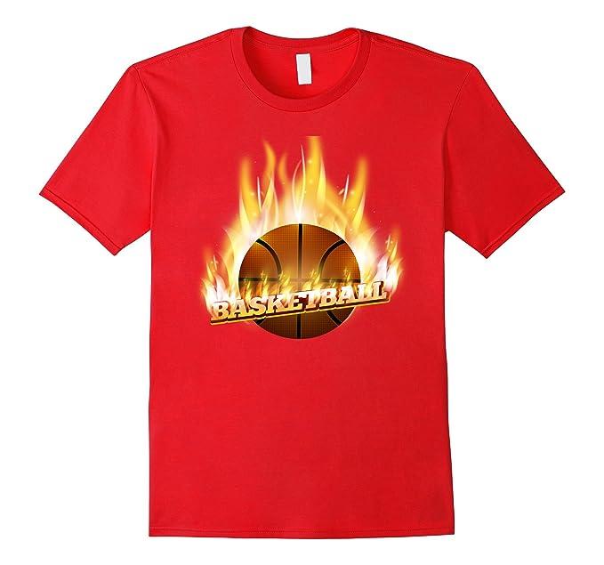 Amazon.com: Pelota y T Camisa Canasta de baloncesto llama on ...