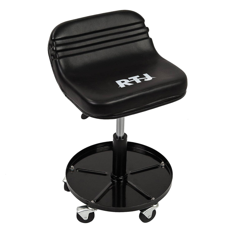 RTJ 300 lbs Capacity Pneumatic Mechanic Roller Seat Adjustable Rolling Stool,Light Green
