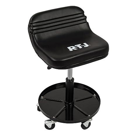 Terrific Rtj 300 Lbs Capacity Pneumatic Mechanic Roller Seat Adjustable Rolling Stool Black Ibusinesslaw Wood Chair Design Ideas Ibusinesslaworg