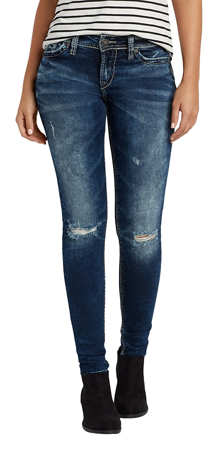 Silver Jeans Co. Women's Silver Jeans Co. Marbled Super Skinny Jeans