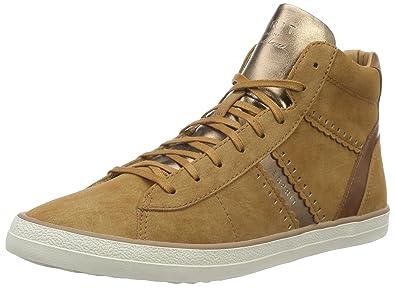 Esprit High Top-Sneaker im Metallic-Look für Damen, Größe 42, Black