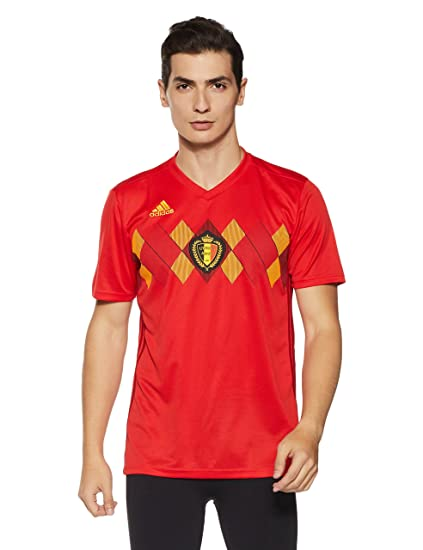 Amazon.com   adidas Belgium Home Jersey 2018 2019   Sports   Outdoors 442ebfd15