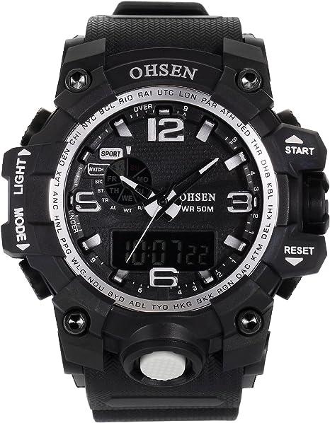 AMPM24 OHS242 Reloj Hombre Analógico Digital Alarma de Goma