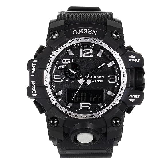 AMPM24 OHS242 Reloj Hombre Analógico Digital Alarma de Goma: Amazon.es: Relojes
