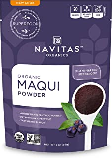 product image for Navitas Organics Maqui Powder, 3 oz. Pouch, 17 Servings — Organic, Non-GMO, Freeze-Dried, Gluten-Free