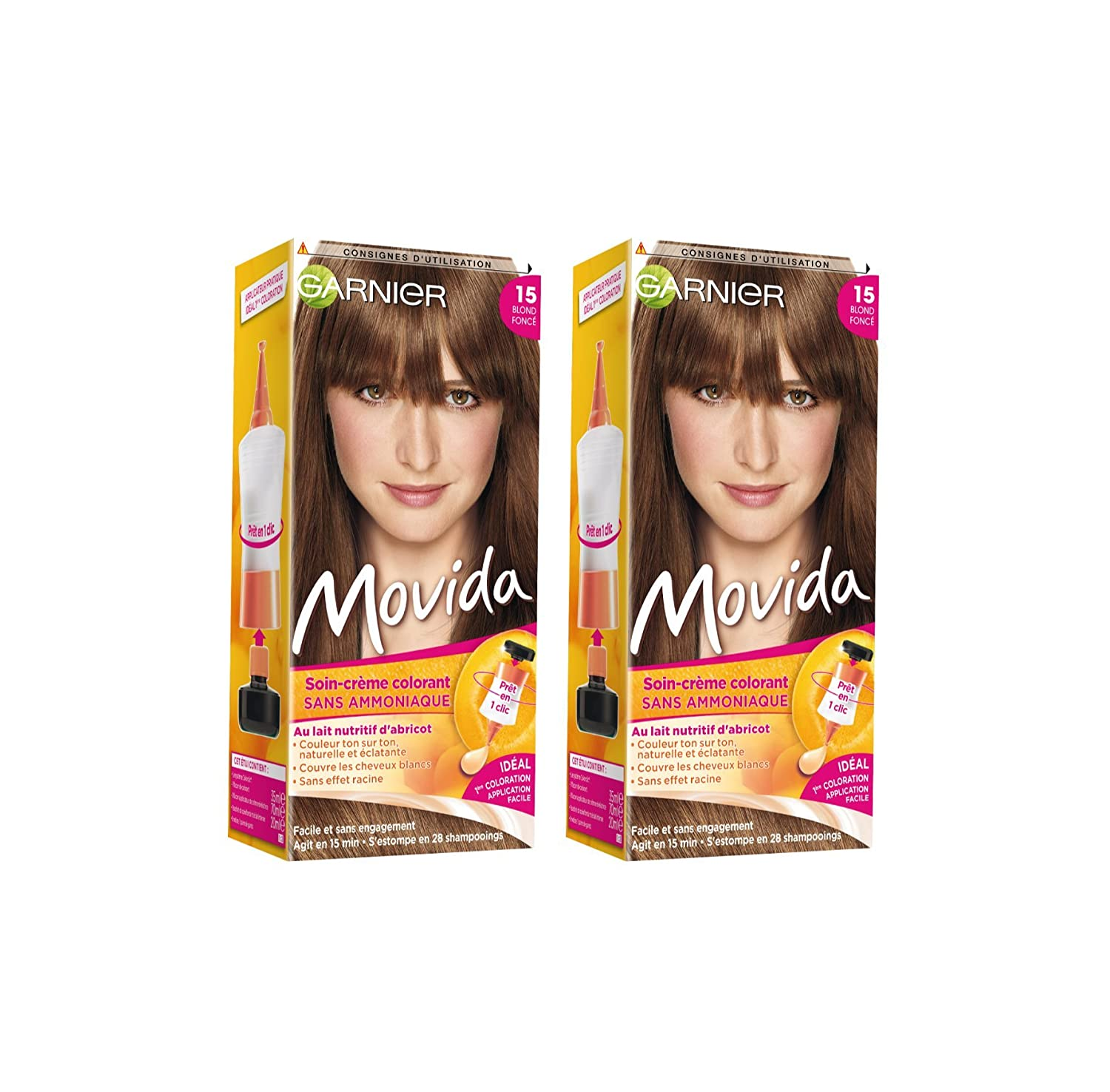 garnier movida coloration temporaire sans ammoniaque blond 15 blond fonc lot - Coloration Temporaire