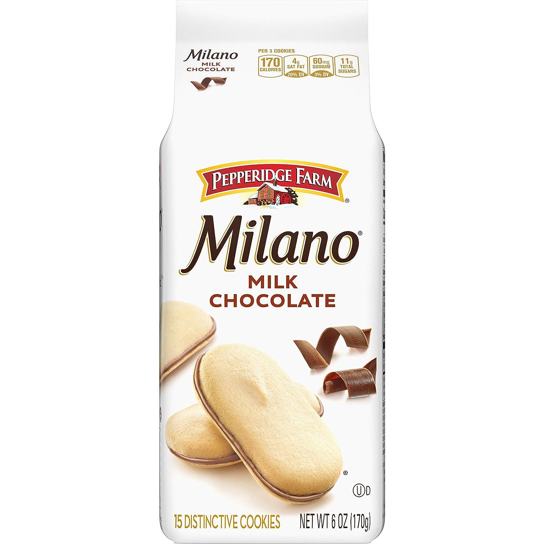 Amazon Com Pepperidge Farm Milano Cookies Milk Chocolate 6 Oz Bag Packaged Chocolate Snack Cookies Grocery Gourmet Food