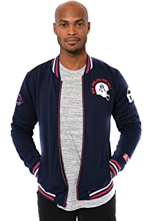 ICER Brands NFL Men s Full Zip Fleece Vintage Letterman Varsity Jacket 303c2ac94
