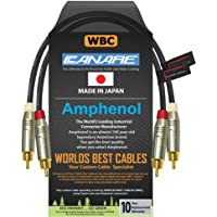 0.5 Foot RCA Cable Pair - Made with Canare L-4E6S, Star Quad, Audio Interconnect Cable and Amphenol ACPR Gold RCA…