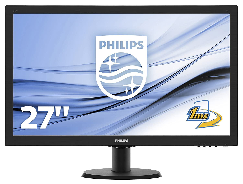 Philips Monitores 273V5LHAB/00 - Monitor de 27' (resolució n 1920 x 1080 pixels, tecnologí a WLED, contraste 1000:1, 1 ms, VGA), color negro Philips Monitores 273V5LHAB/00 - Monitor de 27 (resolución 1920 x 1080 pixels tecnología WLED V-Line
