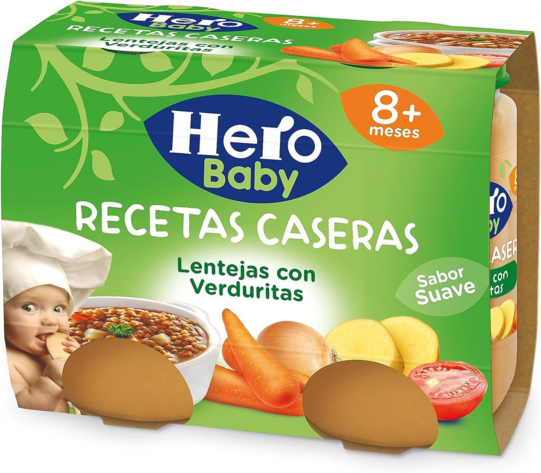 Hero Baby Recetas Caseras Potito de Lentejas con Verduritas para Bebés a partir de 8 meses Pack de 2 x 190 g: Amazon.es: Alimentación y bebidas