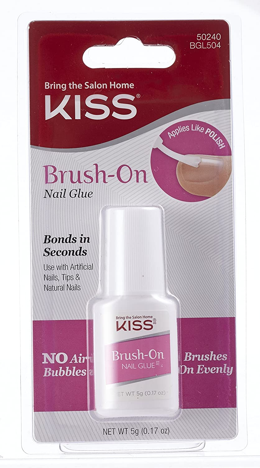 Amazon.com: Kiss Brush-On Nail Glue 0.17oz: Beauty