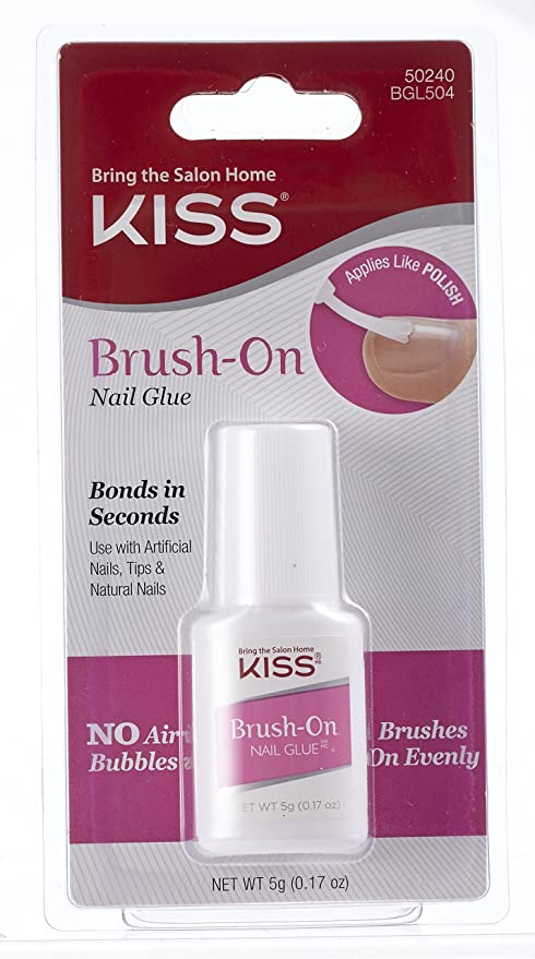 Buy Kiss Products Brush On Nail Glue, 0.05 Pound Online at Low ...