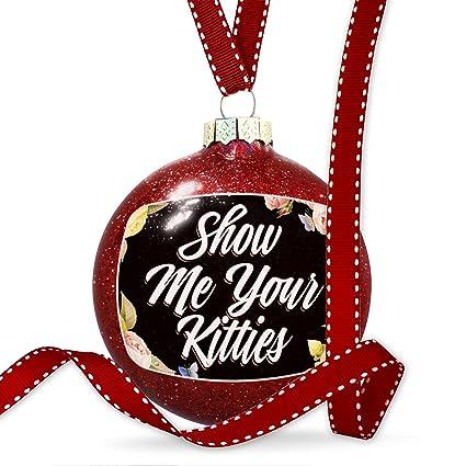 christmas decoration floral border show me your kitties ornament - Show Me Christmas Decorations