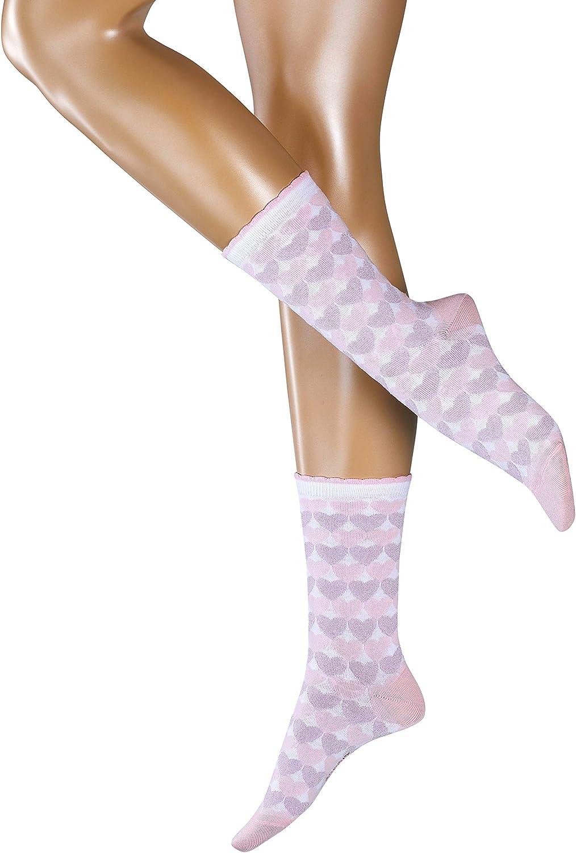 versch 80/% Baumwolle ESPRIT Damen Socken Mixed Hearts Weicher Strumpf mit eingestrickten Herzen und Bund mit M/äusez/ähnchen Farben Gr/ö/ße 35-42 1 Paar