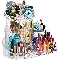 Organizador de maquillaje giratorio de acrílico, caja de soporte de exhibición de perfumes cosméticos de joyería…